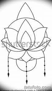 черно белый эскиз тату лотос 09032019 010 Tattoo Sketch