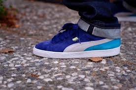 puma shoes suede on feet. puma suede classic \u0027medieval\u0027 shoes on feet