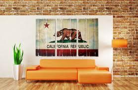 california republic flag 3 piece wall