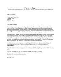 Sample Cover Letter For Entry Level Management Position