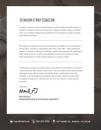 professional cover letter professional cover letter template venngage