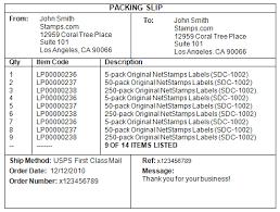 Sample Packing Slip Form Printing A Packing Slip