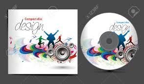 Cd Design Music Music Cd Cover Design Template With Copy Space Illustration