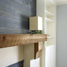 reclaimed wood mantel shelf wooden shelves install stone fireplace