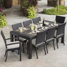 outdoor dining patio furniture. Contemporary Patio Display Product Reviews For Deco 9Piece Brown Wood Frame Wicker Patio  Dining Set With On Outdoor Furniture O