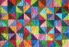 vintage sprinkles latch hook rug kit medium or large