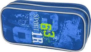 <b>Пенал</b>-<b>косметичка Magtaller 2</b> молнии, Zoom, 9х20х5см, Sport