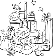 Small Picture Gifts Coloring Pages Christmas Presents To Color Pictures Of
