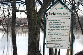 Lindenwood Park Fargo Christmas Lights Floodwater At Lindenwood Park In Fargo Nd
