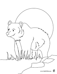 Coloring Pages Forest Animals Grizzly Bear Coloring Pages Hellokids Com