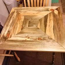 custom made beetle kill pine kitchen table