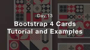 bootstrap 4 cards tutorial and exles