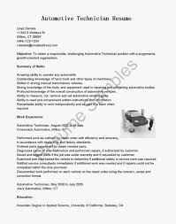 Writing Your Great Automotive Technician Resume Objective Example