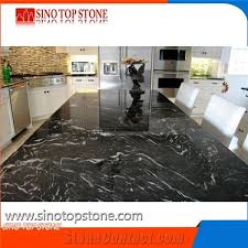 titanium black cosmic mc granite engineered stone for custom kitchen countertop
