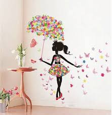 butterfly girl removable wall art sticker vinyl decal diy room home mural decor on wall art decoration vinyl decal sticker with butterfly girl removable wall art sticker vinyl decal diy room home