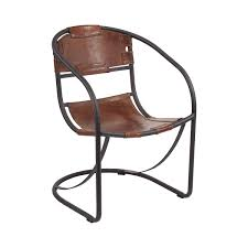 A modern, industrial take on the iconic leather lounge chair, the ...