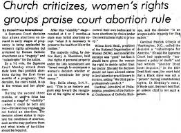 roe v wade and its effects on society thirdsight history church s reaction to roe v wade decision 1973