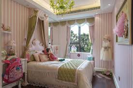 beautiful pink and green princess bedroom cute amazing glass chandelier fabric decoration for girl disney room