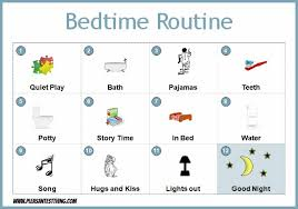 Bedtime Chart Bedtime Routine Chart