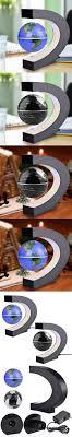 Fashion Home Decoration LED Floating Tellurion Globe Shape Magnetic  Levitation Light World Map Tellurion Black/Blue UA FULI