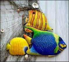 tropical fish wall hanging fish painted