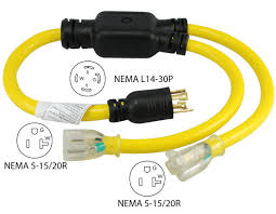 generator outlet 30a 4 prong to 15a generator y adapter cord 2 outlets yl1430520s
