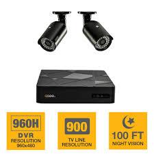 q see 4 channel 960h 500gb surveillance system 2 900tvl 4 channel 960h 500gb surveillance system 2 900tvl camera 100 ft
