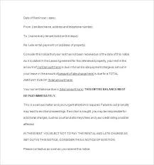 Past Due Notice Template Rent Letter Outstanding Balance Free