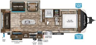 travel trailer floor plans. Reflection 297RSTS Travel Trailer Floor Plans A