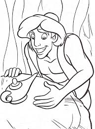 Coloriage Aladdin Et Genie De La Lampel L Duilawyerlosangeles
