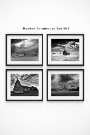 modern farmhouse decor set of 4 prints framed wall art rustic wall art black and white wall art farmhouse wall decor barn prints