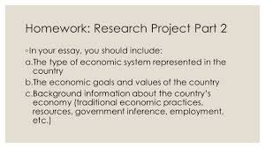 economic systems part homework research project part  3 homework