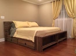 Pallet Bedroom Pallet Bed Etsy