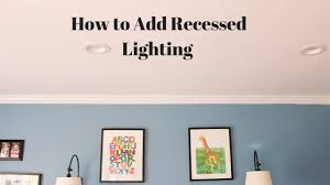 Install Recessed Lighting Remodel Install Recessed Lighting Without Attic Access Youtube