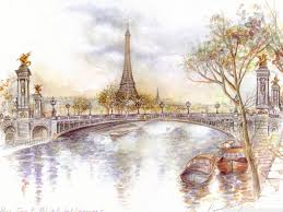 Paris Drawing Hd Desktop Wallpaper High Definition Fullscreen
