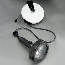 retractable lighting. lights wired to cord reels retractable lighting e