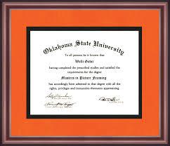 oklahoma state university diploma frame talking walls oklahoma state university diploma frame