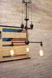 pulley lighting. 3 light pendant straight arm pulley lighting melbourne sydney perth fat shack vintage pty ltd