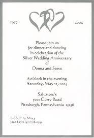 wedding anniversary invitations sle