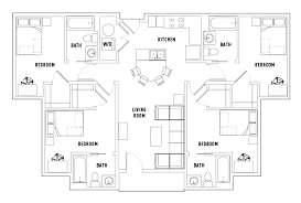 floor plans. Beautiful Plans 4 Bed  Bath A Standard Intended Floor Plans V