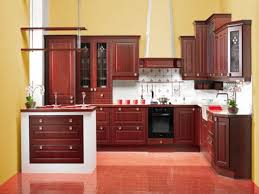 Fancy Yellow Kitchen Paint Colors Wall Schemes Also Brown Teak Wood