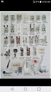 Sewing Machine Feet Sewing Feet Chart Sewing Hacks
