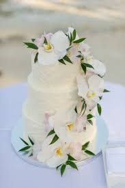 Wedding Cakes Decorated With Orchids