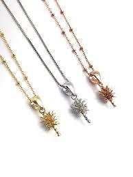 pineapple pearl pendant setting 14k yellow gold rose white