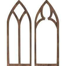 wooden arch wall decor 31 5 at home
