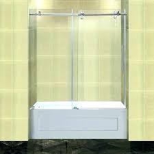 installing sliding shower doors tub door installation cost cost to install glass shower door sliding shower