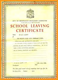 School Leaving Certificate Template Certificates Of Appreciation For ...