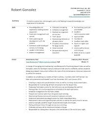 Cook Resume Templates Line Cook Resume Sample Culinary Interesting ...