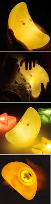 Night Lamps For Bedroom Creative Kawaii Moon Shape Led Night Light Novel Children Bedroom