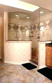 half wall shower glass half wall shower glass door no with height pony walk in privacy knee w cost wall shower glass
